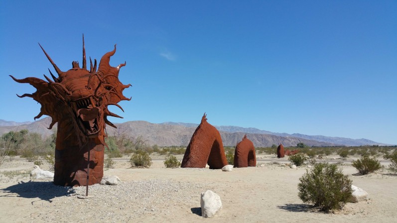 Sculture in Desert